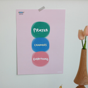 A3 포스터 Prayer changes everything