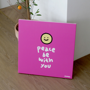 캔버스액자 smile핑크  peace be with you